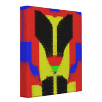 Colorful abstract pattern 3 ring binders