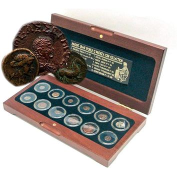 The Greek World: Box of 12 Bronze Coins from the Time of Ancient Greece
