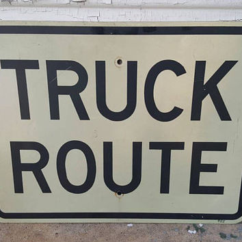 Truck Route Metal Highway Sign Man Cave Garage Dorm Decor