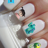 Monsters Inc Nail Decals