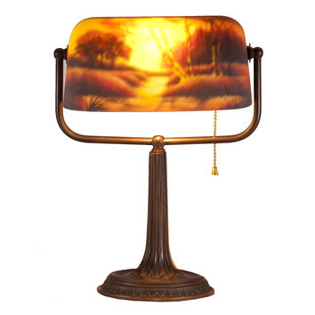 Landscape Banker Lamp by LampStoreOriginals