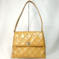 Authentic CHANEL Matrasse Bicolore Shoulder Bag Patent leather[Used]
