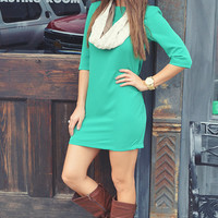 Christmas Party Ready Dress: Green