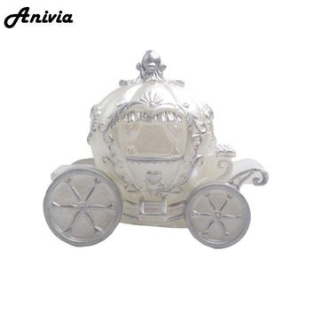 3D Cinderella Pumpkin Shaped Style Birthday Wedding Carriage Car Silicone Mould Chocolate Clay Soap Molds