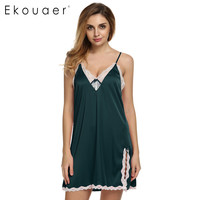 Sexy Satin Sleepwear Silk Nightgown Women Nightdress Sexy Lingerie Plus Size S M L XL XXL Female Nightie