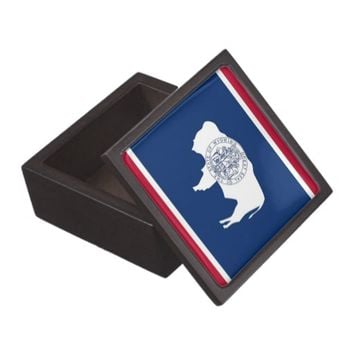 Wyoming State Flag Premium Gift Box