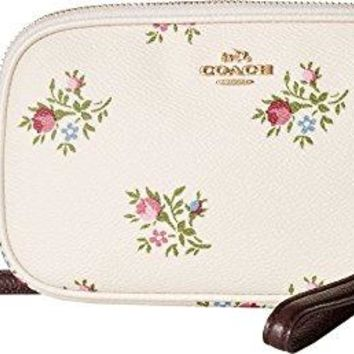 COACH Womens Crossbody Clutch in Cross Stitch Floral COACH bag