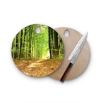 Light In Trees Round Cutting Board Trendy Unique Home Decor Cheese Board