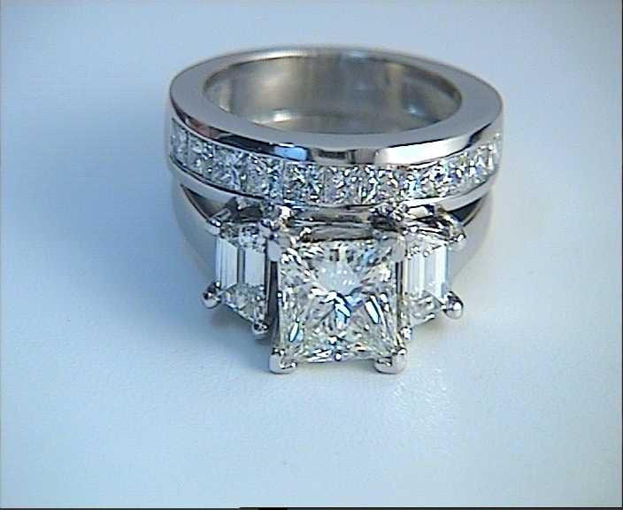 princess cut diamond engagement wedding ring set gia certified jewelforme full size - Princess Cut Diamond Wedding Ring Sets