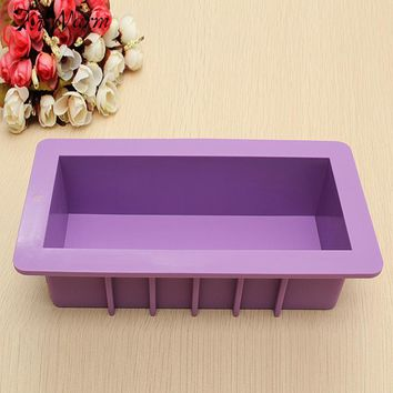 KiWarm Heavy Soap Mold Silicone Cake Chocolate Bar Loaf Candle Food Mould DIY Crafts Handmade Soap Making Mould Tool Supplies