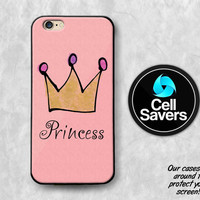 Princess Crown iPhone 6s Case iPhone 6 Case iPhone 6 Plus iPhone 6s + iPhone 5c iPhone 5 iPhone SE Gold Crown Queen Jewels Tumblr Cute Pink