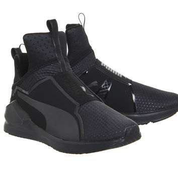 Puma Fierce Black Mono Quilt - Hers trainers