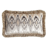 """Fringed Castile Pillow, 16"""" x 24"""" - Isabella Collection by Kathy Fielder"""