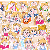 Animation Sailor Moon Stickers planner stickers Erin Condren die cut watercolor stickers T165