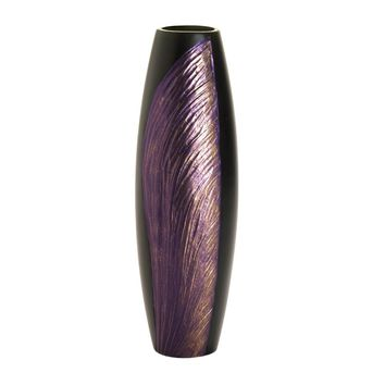 Wooden Orchid Wing Decorative Vase