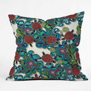 Sharon Turner Turtle Reef Throw Pillow