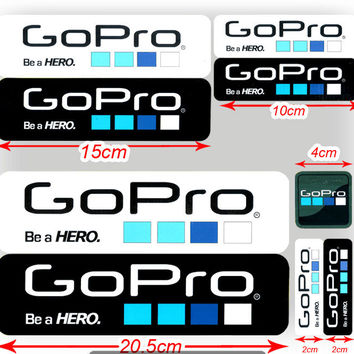 9pcs Go Pro Hero 4 Labels Gopro Hero 3 Icon Adhesive Stickers Gopro Sticker For Hero3+ Hero 2 Gopro Accessories GP101
