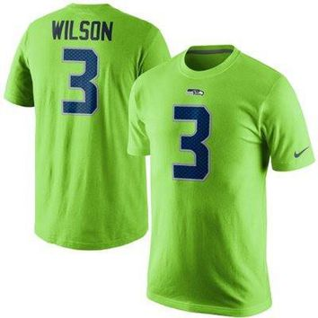 Russell Wilson Seattle Seahawks Nike Player Pride Name & Number T-Shirt – Neon Green