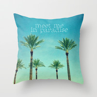 meet me in paradise Throw Pillow by Sylvia Cook Photography