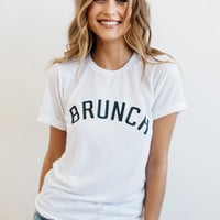 Private Party    Brunch tee in white
