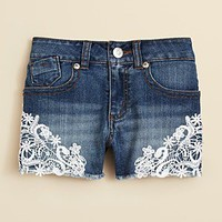 GUESS Girls' Crochet Jean Shorts - Sizes 7-16 | Bloomingdale's
