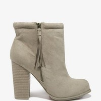 Tasseled Zip Booties