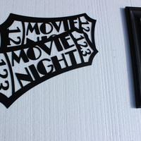 Large Movie Ticket Black 2 Ft Home Theater Decor Metal Wall Art
