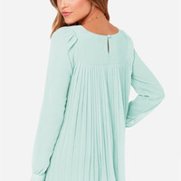 Plain Loose Pleated Chiffon Blouse