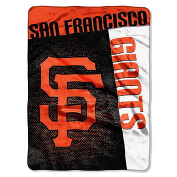 San Francisco Giants MLB Royal Plush Raschel Blanket (Strike Series) (60x80)