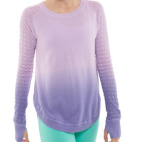sundown knit pullover | ivivva