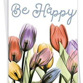 Inspiring Floral Mix Featuring A Bouquet of Flowers Sharing Life Advice, Funny Birthday Card - Free Shipping