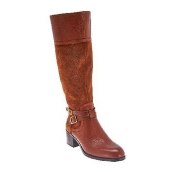 Franco Sarto Leather Tall Shaft Boots Wide