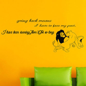 Shop Lion King Wall Quotes on Wanelo