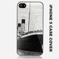 Vintage Titanic Ship Custom iPhone 5 Case Cover
