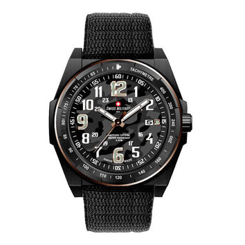 Swiss Military by R 50505 37N N Commando Men's Watch Black Camo Dial