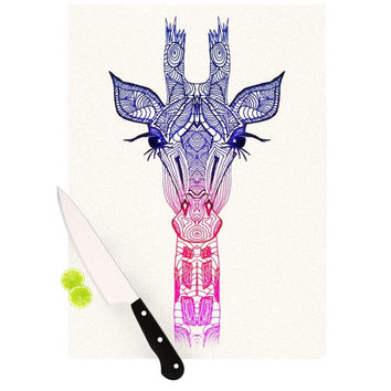 "Monika Strigel ""Rainbow Giraffe"" Cutting Board"