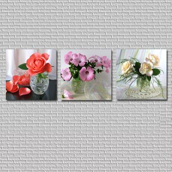 Home Decor Modern Fresh Flowers Canvas Painting Kitchen Wall Art Picture Canvas Prints Wall Pictures for Living Room HY91
