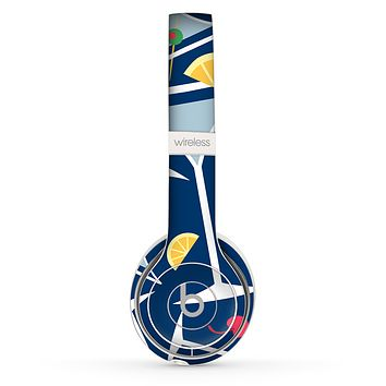The Blue Martini Drinks With Lemons Skin Set for the Beats by Dre Solo 2 Wireless Headphones