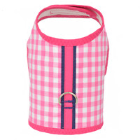 Hot Pink and White Check Dog Vest Harness