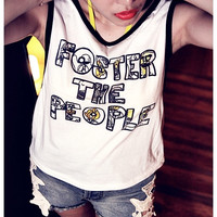 Foster the People Shirt Tank Tops Indie Pop Sexy Summer Sideboob Top Size S, M, L