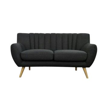 Lilly 2-Seater Sofa - Dark Grey | Modern, Mid-Century & Scandinavian | GFURN