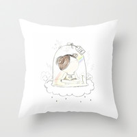 Priceless Throw Pillow by Missy Messy