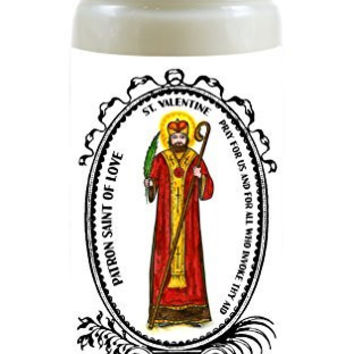 Saint Valentine of Love 8 Ounce Scented Soy Prayer Candle