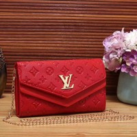 Copy of Louis Vuitton Women Fashion Leather Chain Satchel Shoulder Bag Crossbody