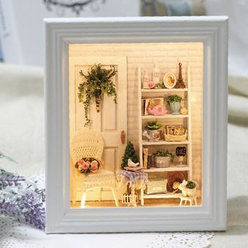 doll house diy kit room frame  sunshine room W005