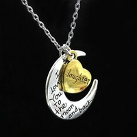 Fashion & Cute & Lovely for Family / Daughter / Mom / Sun Pendant Necklace Girls Jewelry for Outdoor/ Travelling/ Dress Up/ Gift