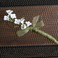 Simple Yet  Classic Boutonniere by ForeverBouquet on Etsy