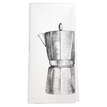 Coffee Pot Tea Towels, Set of 3, Tea towels & Dishtowels