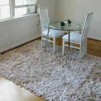 Recycled TShirt Rug in Cafe Au Lait 5' x 8' by talkingsquid