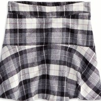 Plaid Ruffled Skirt